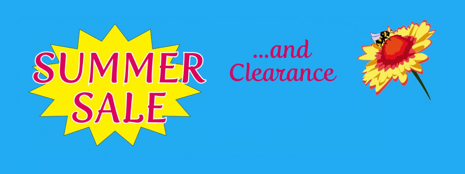 Summer Sale and Clearance…