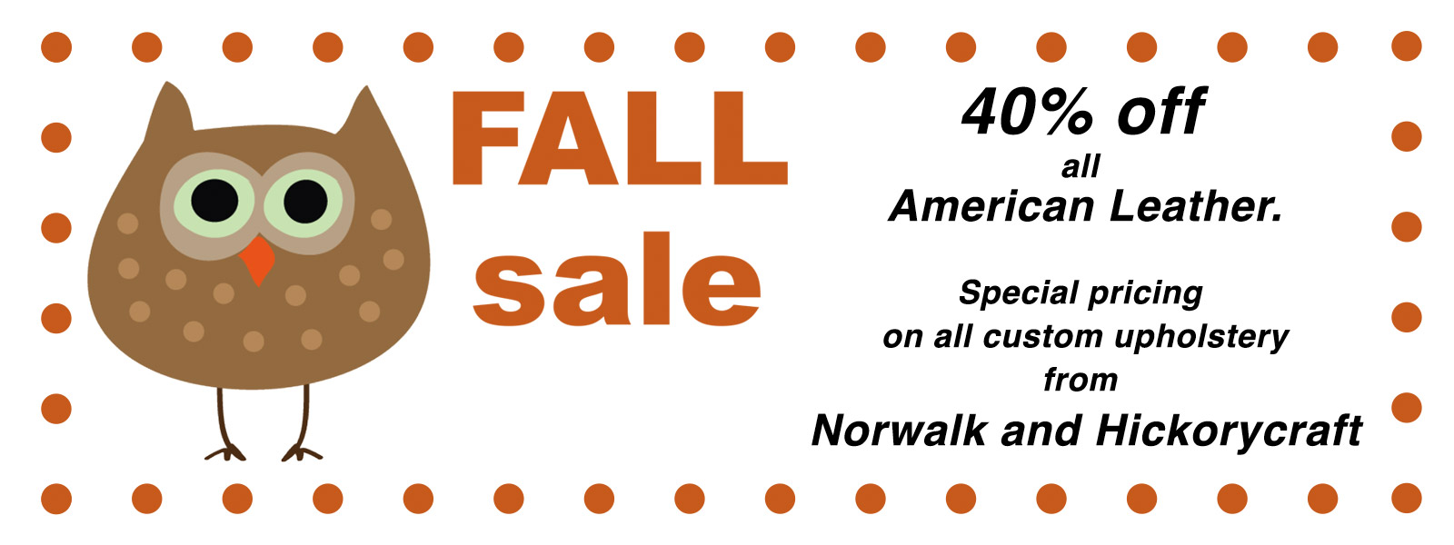 Fall Sale at Sofas & Chairs