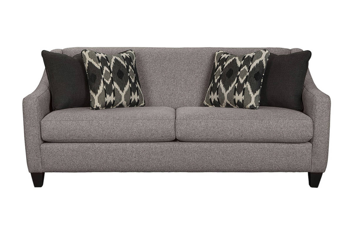 You Ll Love The Attention To Detail On This Trendy 2 Seat Sofa Modern Track Arms French Seaming Sleek Shaping And Tapered Block Legs