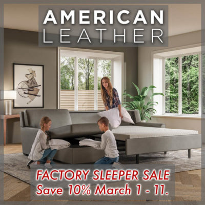 American Leather Factory Sleeper Sale