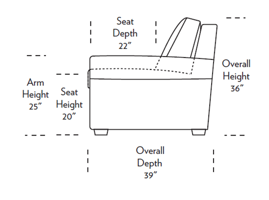Gaines Sleeper Sofa Dimensions