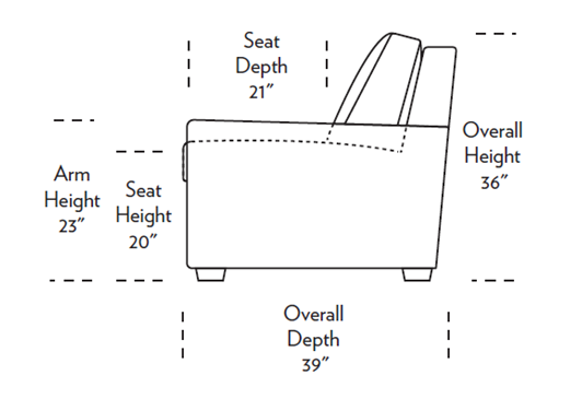 Lyons Sleeper Sofa dimensions