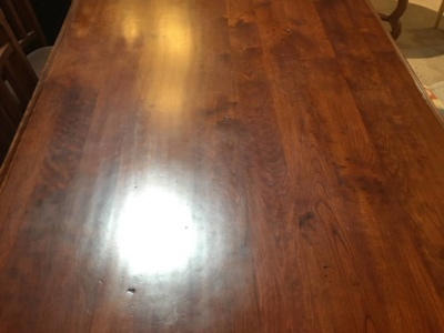 Solid Cherry Trestle Table from Harden